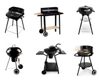 Barbecue Charcoal Bbq Grill with Functional Shelves Outdoor Portable Garden