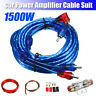 1500W Complete 8 GAUGE Car Amp AWG Audio Amplifier Cable Subwoofer Wiring Kit