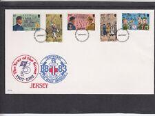 Jersey 1982 organizaciones juveniles-niños Brigada & Scout FDC Primer Día Cubierta