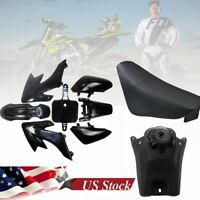 Yellow CRF50 PLASTICS FENDER Black Seat CRF50 DIRT BIKE//PIT ATOMIK PITPRO SSR