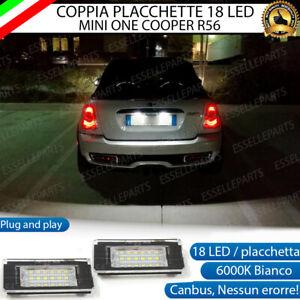 PLACCHETTE A LED LUCI TARGA 18 LED SPECIFICHE MINI ONE COOPER R58 6000K