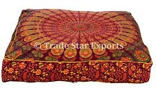 Pet Bed Cover Indian Mandala Floor Cushion Square Dog Bed Decorative Pillow Case