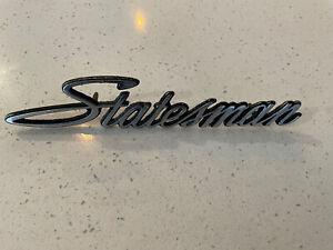 Holden V8 253 308 Hq Hj Hx Hz Statesman Genuine Badge Rare