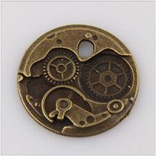 6 Gear Tibetan Silver Charms Pendants Jewelry Making Findings EIF0786