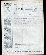 """ANGOULEME (16) CONSTRUCTIONS ELECTRIQUE & MECANIQUE """"MOTEURS / M. LEROY"""" en 1936"""
