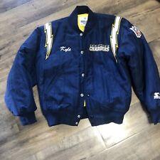 Starter Vintage LA SD Chargers Blue Satin NFL Jacket Size Small Men's Vtg 90's