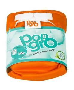 2 x pocket reusable nappies (7-20lbs) ORANGE (50% discount)