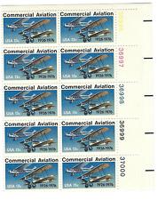 Scott #1684... 13 Cent... Commercial Aviation... Plate Block of 10