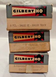 Lot of 3 Original Gilbert American Flyer HO Accessory Boxes