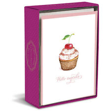 Simply Charmed Cupcake 10 Boxed Blank Note Cards by Graphique de France