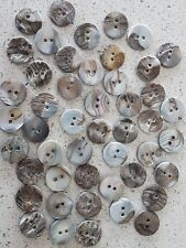 Lot of 20x New 2-Hole 15mm Round Mother of Pearl Shell Vintage sewing buttons