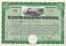 The United New Jersey Rail Road and Canal Compagny certificate 2 Shares 1906