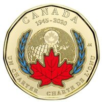 🇨🇦 Special new Canada $1 Loonie Signing United Nations (Atlantic) Charter 2020