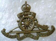 Badge- Vintage Cadet Royal Artillery Regiment Cap Badge KC (All BRASS, Org*)