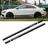 2X 220cm Auto Car Rennstreifen Seitenaufkleber Streifen Zierstreifen Aufkleber #