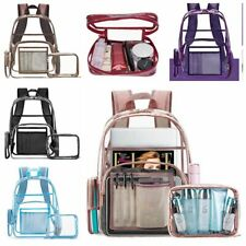 New Women Transparent Jelly Bag Clear PVC Laptop Backpacks Storage Shoulder Bags
