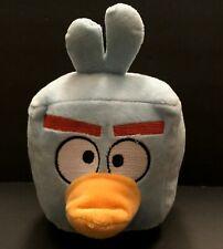 "Angry Birds Space Plush Ice Cube Blue Square Stuffed  5"" Rovio No Sound"