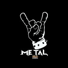 HAND with SPIKES METAL Vinyl Decal Sticker HEAVY METAL ROCK n ROLL PUNK