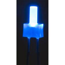 LED Diffused Lens 12V Tower 2mm TTL Compatible Blue 150mcd (3 Pack)