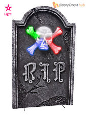 Light Up Tombstone Halloween Party Decoration 48cm Flashing Graveyard Prop Grave