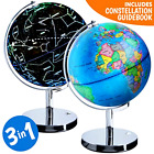 Illuminated Interactive World Globe With Constellation For Kids W/ Stand 3 In 1