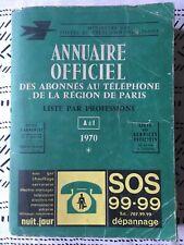 Annuaire officiel des abonnés au téléphone de la région de Paris 1970