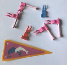Sammlungsauflösung Lego Belville Flaggen Fahnen Wimpel Mix Set mit Haltern
