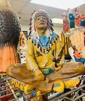 Native American INDIO CHIEF JEFE religion yoruba ifa santeria 11 Inches Indian