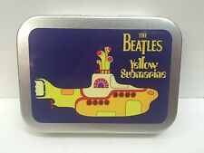 Beatles Yellow Submarine Music Record Cigarette Tobacco Storage 2oz Hinged Tin