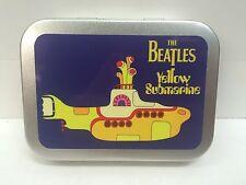 Beatles Yellow Submarine Music Record Cigarette Tobacco Storage 2oz Hinged Tin