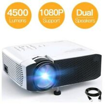 "Projector APEMAN Portable Mini Projector 4500 Lumens Support 1080P Max 180"" LCD"