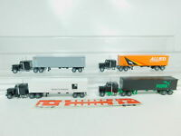 BO759-0,5# 4x Wiking H0/1:87 US-Truck Peterbilt: Alianca+Puma+Allied+WK, s.g.