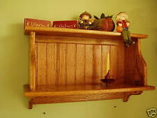 "30"" Solid Oak Country Cupboard Kitchen Wall Shelf Wall Storage"