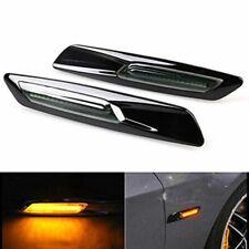 2x LED Ambre Clignotant Repetiteur D'aile Noir pour BMW E46 E60 E82 E88 E90 E92#