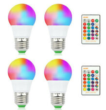 4Pcs LED RGB Color Changing Light Bulbs 40 Watt Equivalent Lamp Remote Control