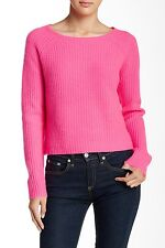 360 Nordstrom Women's Scotti Cashmere Sweater Pink Size Small $299 LD83