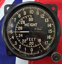 1940 RAF RAAF BRITISH BOMBER SHORT & MASON BATTLE OF BRITIAN ALTIMETER GAUGE