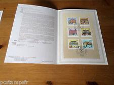ALLEMAGNE FEDERALE, RFA, 1991, BUREAUX POSTE timbres 1395/1400, DOCUMENT 1° JOUR