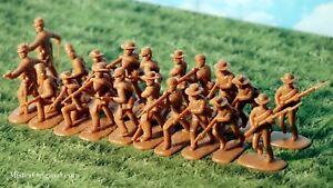 Armies in Plastic Civil War Confederate Butternut Infantry 1/32 54mm