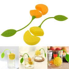 Lemon Silicone Tea Leaf Infuser Loose Strainer Herbal Spice Filter Diffuser*v*