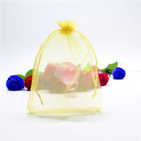 50 GIFT CANDY BAGS Premium Party Wedding Favour  Jewellery Pouches SHEER ORGANZA