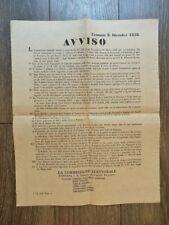 CREMONA 1858 antico EDITTO AVVISO COMMISSIONE ELETTORALE manifesto