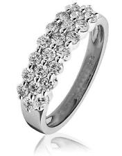 Diamond Wedding Ring 0.80ct F VS Brilliant Cut Pave Set in 18ct White Gold