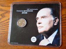 """PIECE 2 EUROS """"BU"""" 2016 COMMEMORATIVE FRANCOIS MITTERRAND sous blister/10 000EX"""