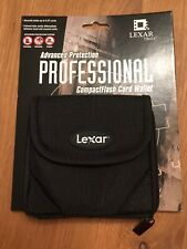 LEXAR CF COMPACT CARD CASE  HOLDER x 1. Each case can carry 8 CF cards