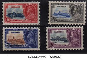 BARBADOS - 1935 KGV SILVER JUBILEE SG#241-244 - 4V - MINT HINGED