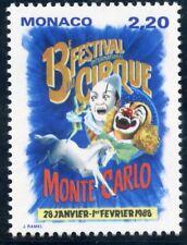 STAMP / TIMBRE DE MONACO N° 1596 ** LE CIRQUE / AFFICHE ANNONCE DU FESTIVAL