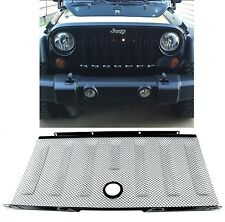 Black Stainless Front Grill 3D Mesh For 2007-2017 Jeep Wrangler JK New Free Ship