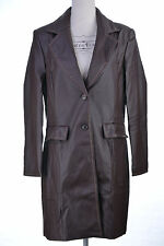 Manteau Femme Trench Imper Coupe Vent 38 40 Simili Cuir MARRON PERFECT ZAZA2CATS