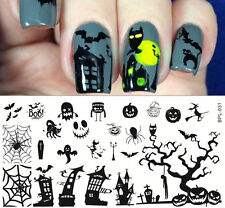 Nail Art Stamp Plate Halloween Theme Image Template #L031 12.5*6.5cm BORN PRETTY